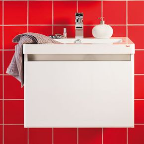 Tvättställsskåp Hafa Axcent Vit/Aluminium